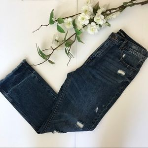Express Straight Ankle High Rise Jeans